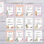 Baby Milestone Cards, Peter Rabbit, Unisex, Girl, Boy, Pack of 28 Cards,