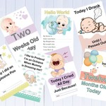 Alternative Baby Milestone Cards, Funny Milestones, Pack of 33 Cards
