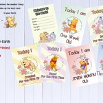 Baby Milestone Cards, Winnie the Pooh, Unisex, Pack of 30 Cards