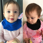 Baby Dibble Bib, baby bib, baby neck warmer, crochet dribble bib, cotton dribble