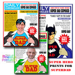 Superhero Dad Print, Father Day Poster, Personalized Print for Dad, Custom