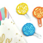 Planner Clips / Planner Accessory / Paper Clip Flower /