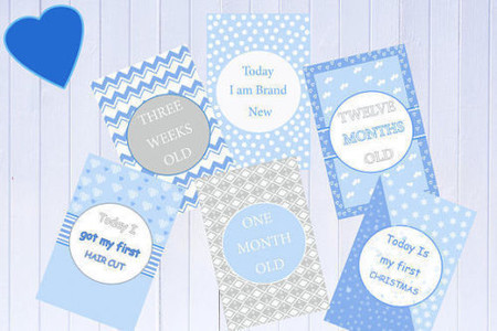Baby Milestone Cards, Boys, Girls, Unisex, New Mum, Pack of 34 Cards