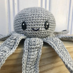 Crochet Octopus, baby Soft Toy, octopus Nautical Nursery Decor, Teepee Decor, oc