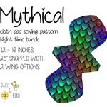Mythical | Reusable Cloth Menstrual Pad | PDF Sewing Pattern | Night Bundle