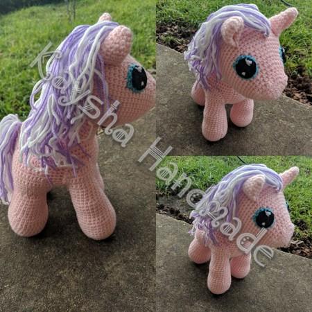 Handmade amigurumi pony