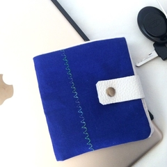 Mens Wallet Mans Unisex Fabric Cotton Gift Birthday Christmas Fathers Day BLUE2