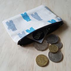 Bear print coin purse