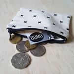 Black cross print coin purse