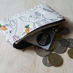 Rabbit print coin purse