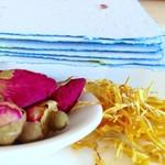 Rose & Calendula -Handmade Paper