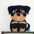 Rottweiler Plush / Dog Softie / Dog Toy