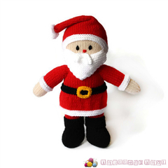 Hand Knitted Santa Toy