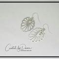Silver Art Nouveau style earrrings