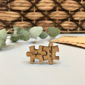 Personalised laser cut wooden card + cufflinks set - Love you to pieces