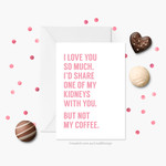 Funny Coffee Card | Anniversary Card | Valentines Card | GCLFA6012