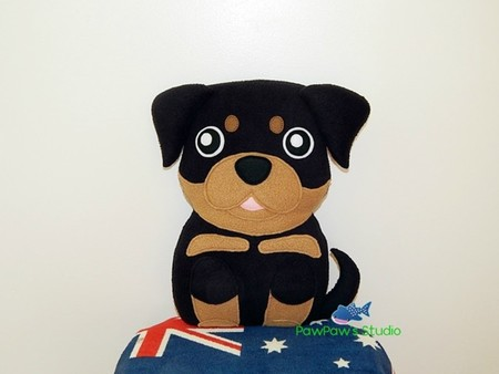 Rottweiler Plush / Dog Softie / Dog Toy