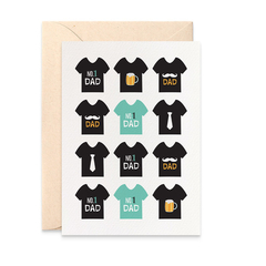 Father's Day Card - Black Dad's T-shirts - HFD030