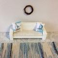 Miniture rug. Handmade dollhouse floor rug, dollhouse decor,coastal style.