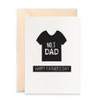 Father's Day Card - Tshirt Card with No. 1 Dad - HFD030