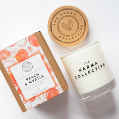 Peach & Myrtle Soy Wax Candle