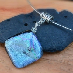 Galaxy-  fused glass pendant.
