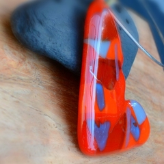 Love is Love fused glass pendant.