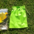 3 small cotton drawstring bags,  16 colours + b & w, for school, games, toys
