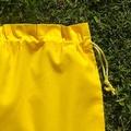 Set of 4 medium cotton drawstring bags,  primary colours, storage, toys, library