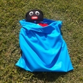 3 extra large cotton drawstring bags,  16 colours + b & w, storage, toys, gear