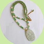 Natural jade necklace.