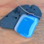 Blue Pool fused glass pendant.