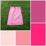 Medium cotton drawstring bag, choice of pinks for storage, toys, library