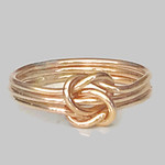 Gold Celtic knot ring/ triple knotted ring/ double knot ring/ 14k gold filled
