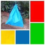 Extra large cotton drawstring bag, primary colours for toys, storage, kinder