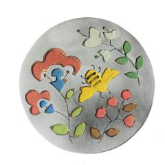 Bee & Pink Flowers brooch