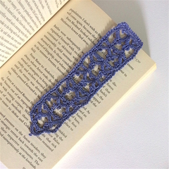 Purple Hand Crocheted Bookmark