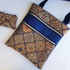 Mosaic blue crossbody bag