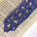 Purple Hand Crocheted Bookmark