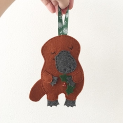Sleepy Platypus Christmas decoration, Australian animal, Aussie, souvenir