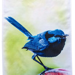Splendid Blue Wren Tea Towel