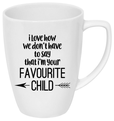 Father's Day drink bottle/coffee mug decal | Favourite child!