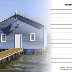 Crawley Bay Blue Boatshed 'To Do' Fridge Magnet with white board marker