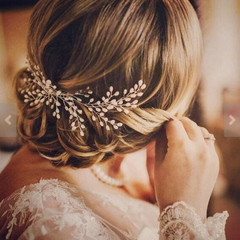 Handmade Vintage Bridal Hair vine wreath, hair comb - wedding bridal accessories