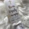 Baptism Candle, Christening Candle Personalised (Xavier)