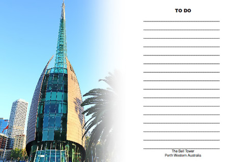 Perth Bell Tower 'To Do' Fridge Magnet with white board marker