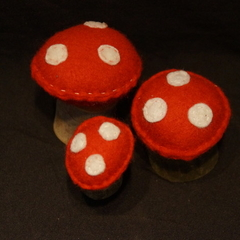 Felt Mushrooms 1