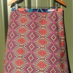 Amy Butler Blush Tribal A line skirt