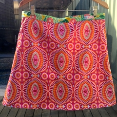 Amy Butler Temple Tiles in Berry and Aqua Aline skirt