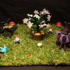 Critter on grass set